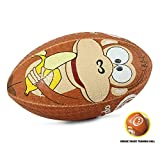 OPTIMUM Ballon de Rugby, Singe, midi Unisex-Youth, Multicolore, Mini