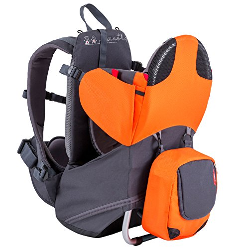 phil&teds Parade Child Carrier Frame Backpack, Orange – Compact, Lightweight (4.4lbs) –...
