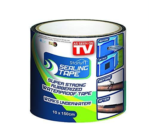 BEST DIRECT Starlyf Sealing Tape As Seen on TV Nastro Adesivo Sigillante Multiuso Impermeabile Sigilla Copre Rattoppa Aggiusta Fori Tubature Fiuriuscite di Acqua e Aria per Casa (Extra Large (10x150))
