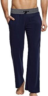 Pantalones de pijama de algodón para hombre con cordón para dormir, pantalones casuales para el hogar, sueltos, pantalones para estar sueltos, tallas grandes