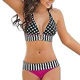 Luckycat Tops de Bikini, Trajes de Baño Mujer 2018 Sexy Push-up Bikini Rayas Bikini Mujer