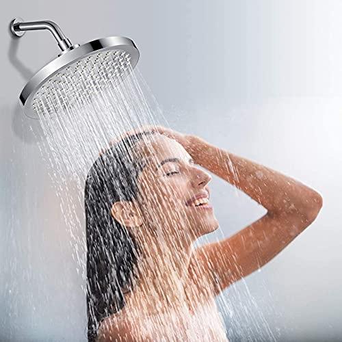 "Kotee 8"" High Pressure Rain Rain Showerhead High Flow Shower Head High Pressure Fixed Shower Head with Adjustable Metal Swivel Ball Joint The Perfect Replacement Shower Head"