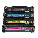 Cartucho compatible para HP CE320A Reemplazo para HP Color LaserJet Pro CM1411fn CM1412tn CM1413fn CM1415fn CM1415fnw Impresora, cartuchos de cuatro colores para elegir con chip-set