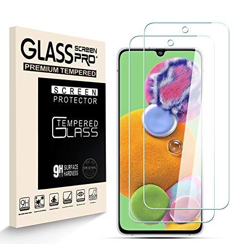 HJX Protector de Pantalla para Samsung Galaxy A90 5G [2-Pack], Vidrio Templado de 9H Dureza, 2.5D Alta Definicion Sin Burbujas, Alta Sensibilidad, Samsung Galaxy A90 5G Protector de Pantalla