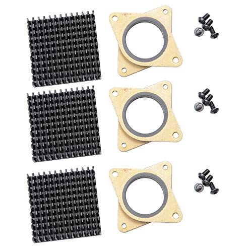 Forrom NEMA 17 Dämpfer Mahlzeit & Gummi Schrittmotor Vibrationsdämpfer importiert Original Stoßdämpfer mit Kühlkörper für 42 Schrittmotor (3 Stück)
