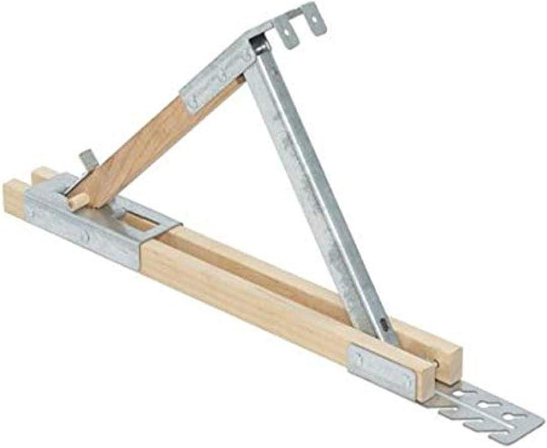 Qualcraft 2510 Adjustable Wood Roof Bracket Cheap Regular dealer 12-Inch Steel