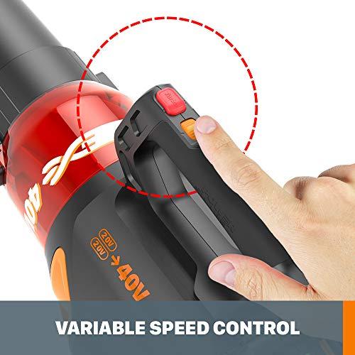 WORX WG584 40V Power Share Turbine Cordless Leaf Blower with Brushless Motor (2x20V Batteries)