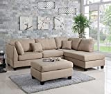 Poundex Bobkona Dervon Sectional with Ottoman