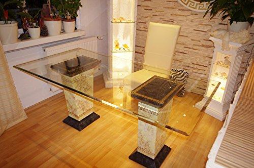 AWD Schreibtisch Computertisch Bürotisch Nageltisch Manikürtisch Glasplatte 160cmx90cm