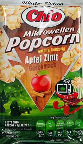 Mikrowellen Popcorn APFEL ZIMT (1 Beutel mit 3 Portionen / 100 g) WINTER EDITION
