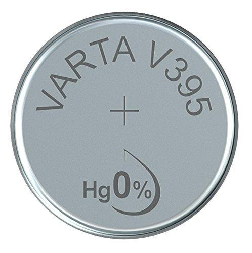 Varta 14501395 silberoxid Knopfzelle (V395, 1er Pack) silber