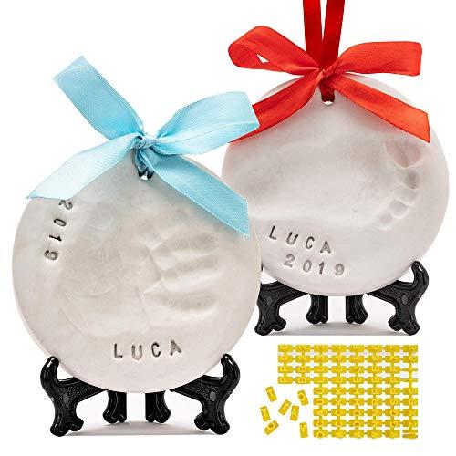 PITI COT - Kit Huellas Bebé | Set para Huella de Pie e Manos del bebe | Regalos Originales para Bebès Recien Nacidos Bautizo Niño Niña | Decoracion Habitacion | Decoración Navideña | Regalos N