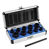 Artensky - Juego de 11 piezas de tornillos y tuercas para extractor de tornillos dañados