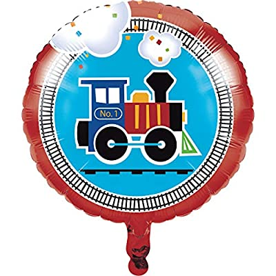 All Aboard Train Mylar Balloon, 3 ct by Creative Converting