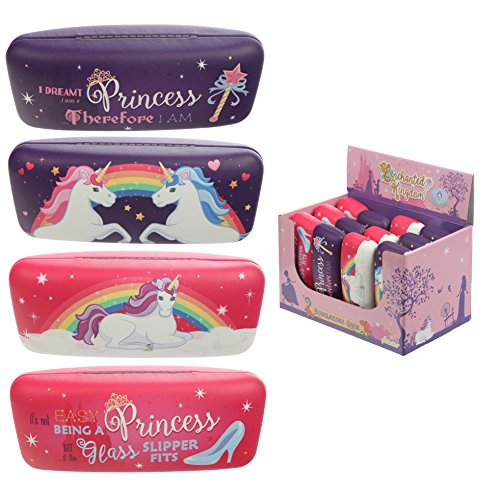 Puckator Sonnenbrillenetui – Enchanted Princess and Rainbow Unicorn, gemischt, Height 6cm Width 16cm Depth 5cm