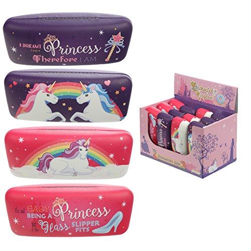 Puckator Sonnenbrillenetui – Enchanted Princess and Rainbow Unicorn, Mehrfarbig, Height 6cm Width 16cm Depth 5cm