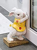 義務と柔軟なドアストップ 繊細な手描きのドアは樹脂動物かわいいラビの猫の犬のドアストッパーの創造的な漫画のドアを止める家の装飾アクセサリー ドアストップウェッジ (Color : C)