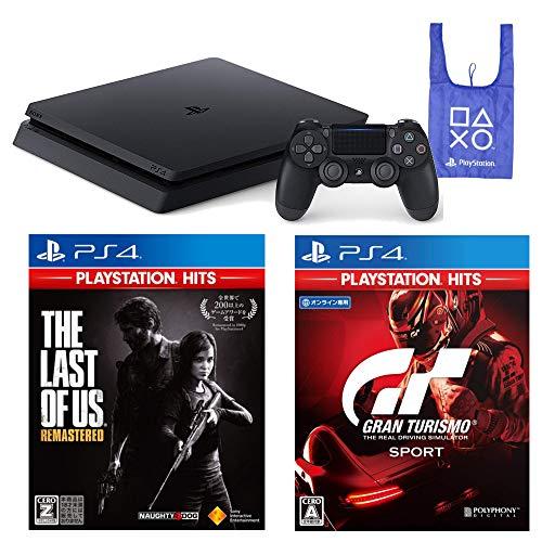 PlayStation 4 The Last of Us Remastered グランツーリスモSPORT オリジナルデザインエコバッグ セット (ジェット・ブラック) (CUH-2200AB01) 【CEROレーティング「Z」】