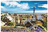 ZYHSB Jigsaw Puzzle 1000 Piezas Barcelona Park Guell Carteles De Madera Juguetes para Adultos Juego De Descompresión Ty04Nh