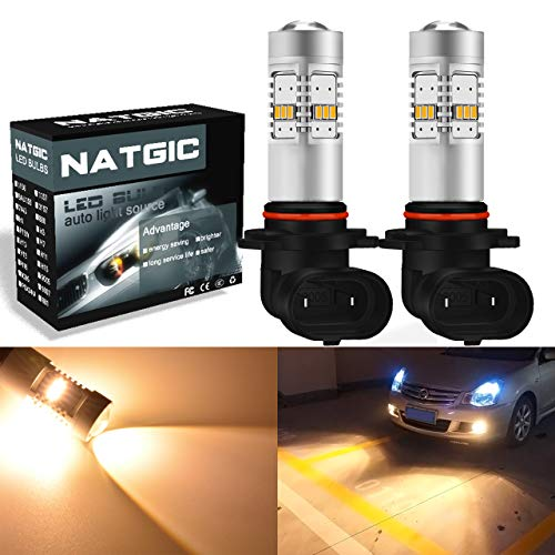 Ngcat 1800 lumens 14 SMD 3020 CREE 9005 HB3 ampoules LED pour feux de brouillard DRL clignotants ampoules Back Up inversée lumières, DC 10–16 V Jaune halogène (2-Pack)