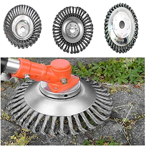 Why Choose Aderpmin The Indestructible Trimmer Garden Grass Trimmer Head Weed Brush Steel Wire Wheel...