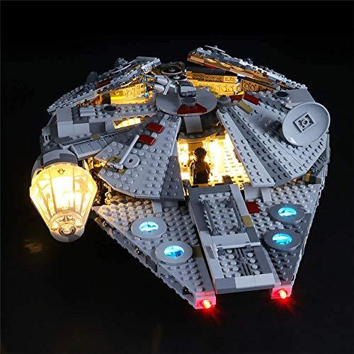QXQY Jeu De Lumières LED pour Lego 75257 Star Wars Faucon Millenium,Kit Lumière LED Compatible avec Lego 75257 (Modèle Non Inclus)