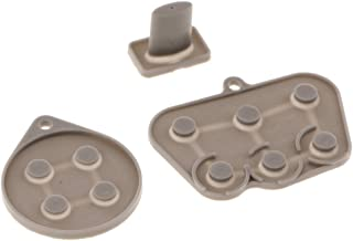 Baoblaze Pack of 3 Conductive Button Rubber Pad Set for Sega Saturn Controller Accessory