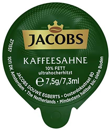 Jacobs Professional Kaffeesahne, Großpackung mit 240 Portionsdosen zu je 7,5g Kondensmilch (7,5% Fett), hygienisch einzeln verpackt, die ideale Portionsgröße für eine Tasse Kaffee