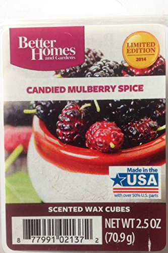 1 X Better Homes and Gardens Candied Mulberry Spice Wax Cubes