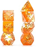 cusdie Four Seasons Dice Autumn DND Dice for Dungeons and Dragons(D&D) Role Playing Game(RPG) MTG Pathfinder Table Game Dice (Fall Dice)