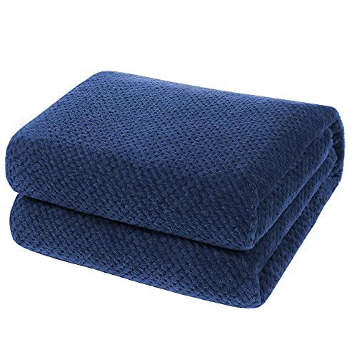 YOOFOSS Manta de Microfibra 150x200 cm Mantas para Sofás Manta de Cama Colcha o Manta de Estar Viajes Cómodo Cálida para Todas Las Estaciones Azul