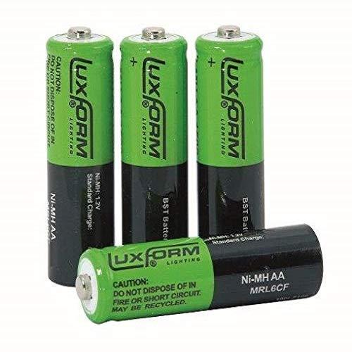 Luxform 9953 Aufladbare Solarbatterie AA NiMh 800 Mah, 4 Stück