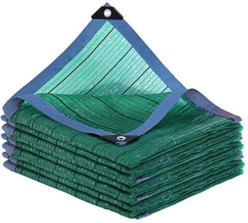 Cortina de la Red 95% Bloqueador Solar Pantalla de Tela UV Resistente Malla Sombra Lona toldo for Invernadero Plantas de Flores al Aire Libre Patio, Verde, 1x1m, Tamaño Nombre: 3x3m, Nombre de Color: