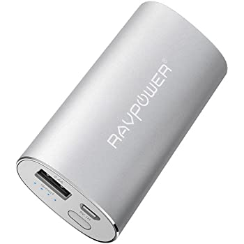 Importado de UK iPad RAVPower 2.4A Output, 2A Input, iSmart Technology Black , Portable Charger 6700mAh Power Bank External Battery Pack for iPhone Upgraded Capacity Smartphones and Tablets