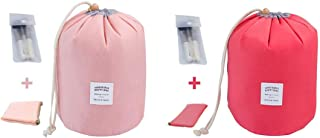 INVODA Travel Cosmetic Bags 2 Packs Waterproof Makeup Bags Multifunctional Bucket..