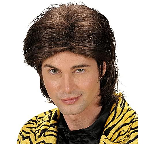 Widmann Perücke Wet Look Hair braun