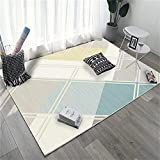 Teppiche & Matten Teppich Kuschelig Blauer Teppich rechteckige geometrische Design-Wohnzimmergröße kann individuell gestaltet Werden 120X160CM Hall Teppiches