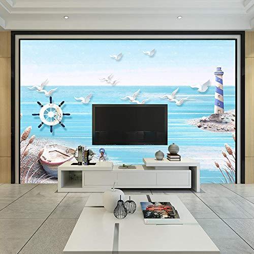 Grote Mural_3D Driedimensionale Onderwater Wereld Behang Grote Mural Woonkamer Slaapbank TV Achtergrond Muur Schilderen Naadloze WandbehangWallpaper 3D Muur Mural Plakken Border 400cm×280cm