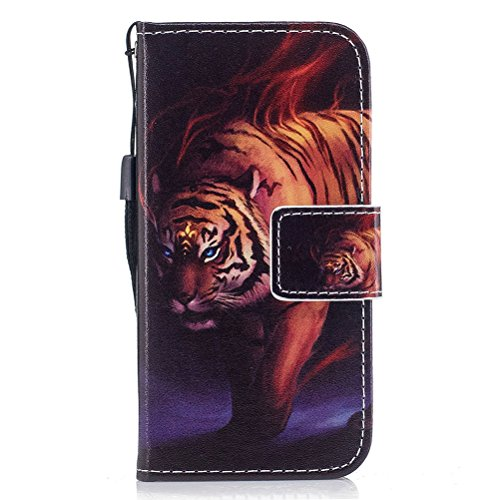 EUWLY Kompatibel mit iPhone 8 Plus/iPhone 7 Plus Handyhülle Luxus Muster Bookstyle LederHülle Brieftasche Ledertasche Klappbar Handy Tasche Leder Flipcase Handycover,Tier