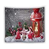 KHKJ Árbol Tapiz Colgante de Pared Boho Fondo de Madera Decoración navideña Alfombra Tapices de Tela de Pared Manta Cortina A6 95x73cm