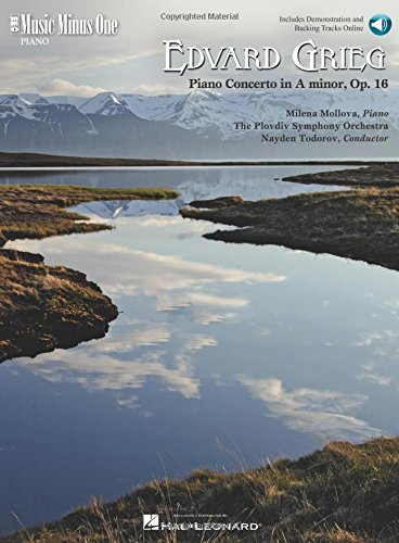 Edvard Grieg Piano Concerto in a Minor, Op. 16 (Music Minus One (Numbered))