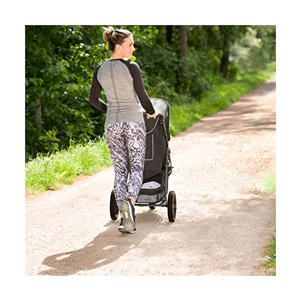 Hauck Rapid 3 Wheel Pushchair up to 25 kg with Lying Position from Birth, Small Foldable with One Hand, Height Adjustable Push Handle, Large Basket - Black Hauck LONG USE: The pushchair is suitable from birth (in lying position or in combination with the separate 2-in-1 Carrycot) and loadable up to 25 kg (seat unit 22 kg + basket 3 kg) EASY TO FOLD: This stroller folds away compactly and can be then carried with one hand only by the release loop COMFORTABLE: For the kid thanks to backrest and footrest adjustable into flat position, as well as for parents thanks to height-adjustable handle and large shopping basket 6