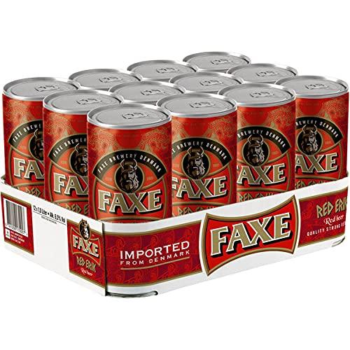 12 Dosen Faxe Red Eric a 1 Liter 6,5% vol. Dänisches Bier inklusive EINWEG Pfand