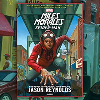 Miles Morales     Spider-Man              By:                                                                                                                                 Jason Reynolds                               Narrated by:                                                                                                                                 Guy Lockard                      Length: 6 hrs and 53 mins     365 ratings     Overall 4.4
