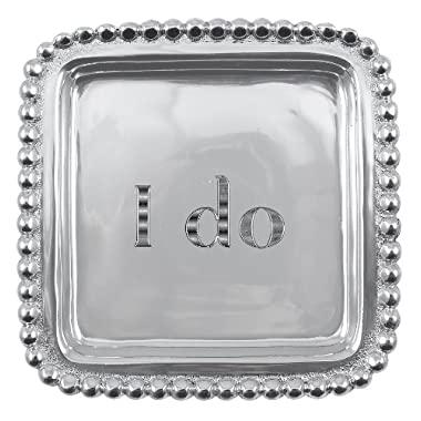 Mariposa  I do  Beaded Square Tray