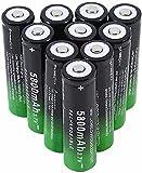 18650 Baterías Recargables 3.7V 5800mAh Li-Ion Batería de Alta Capacidad Iluminación Solar Controles remotos Luces de jardín Lámparas de Bolsillo-Lot de 10