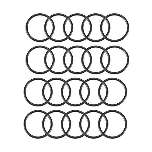 sourcingmap® 20stk Ersatz Schwarz Gummi O Ringe Öldichtung Dichtungen Dichtring 20x17x1.5mm de