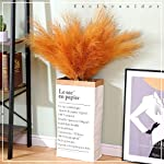 excluronlder artificial pampas grass large, 6pcs 42″ (3.5ft) tall fluffy faux bulrush reed grass for indoor wedding modern home decor vase and flower arrangement, mustard