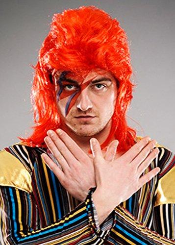 Magic Box Int. Herren 70er Jahre Ziggy Stardust Style Red Perücke