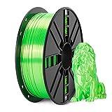 Shiny Silk Green PLA Filament 1.75mm, NOVAMAKER Shine Green PLA 3D Printer Filament with Cleaning Filament, 1kg Spool(2.2lbs), Dimensional Accuracy +/- 0.02mm, Fit Most FDM Printer